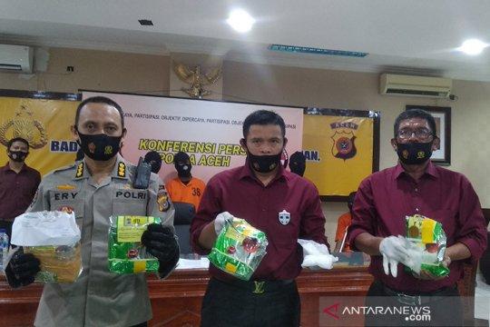Polda Aceh gagalkan peredaran 4,5 kilogram sabu-sabu