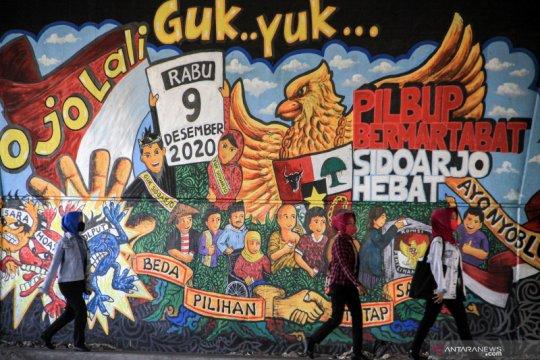 Mural sosialisasi Pilkada serentak