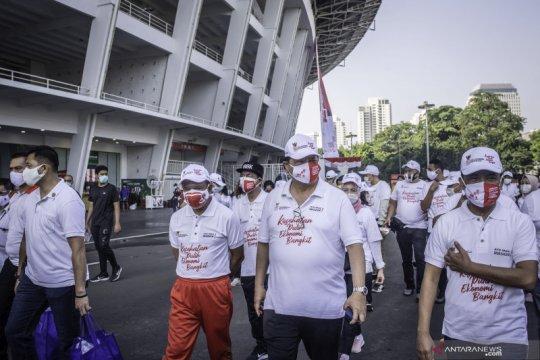 Menko Airlangga: Bangkitnya ekonomi dimulai dari disiplin pakai masker