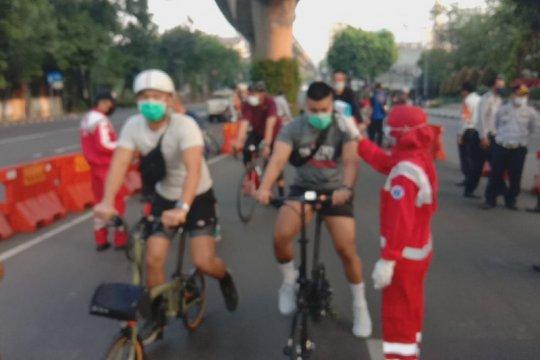 Petugas gabungan awasi ketat kawasan pesepeda JLNT Antasari