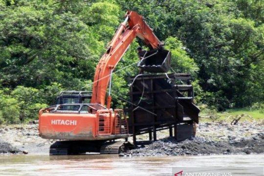 Aksi penambangan emas ilegal di Aceh Barat semakin meningkat