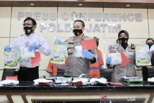 Polda Jatim sita 6,5 kilogram sabu dari jaringan Malaysia