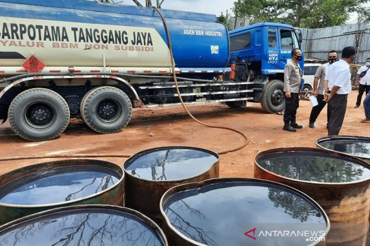 Ditreskrimsus Jambi tetapkan empat tersangka kasus 50 ton BBM ilegal