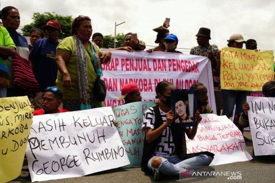 Demo terkait kematian tahanan polres kota Sorong