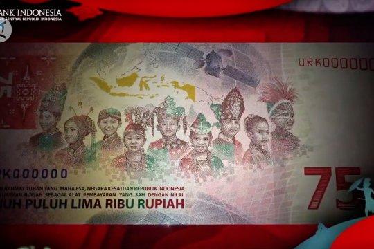 Ini makna motif  pada uang pecahan Rp75ribu edisi khusus kemerdekaan