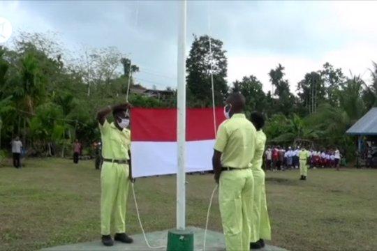Peringati hari kemerdekaandi wilayah perbatasan Papua