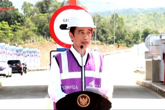 Presiden resmikan jalan tol pertama di Provinsi Aceh