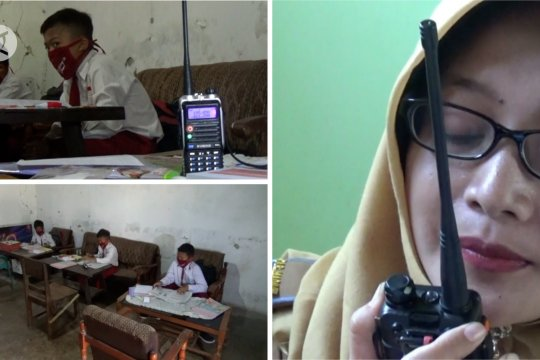 Guru di Madiun gunakan HT untuk pembelajaran jarak jauh