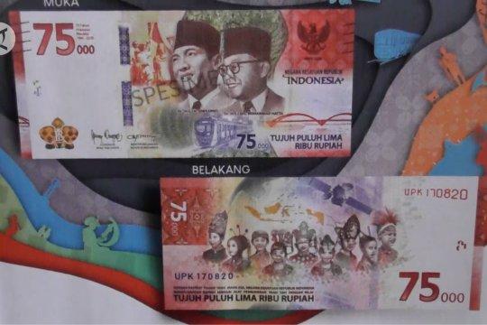 Masyarakat antusias dapatkan uang edisi khusus Rp75 ribu