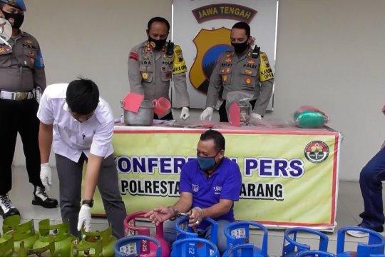 Polrestabes Semarang tangkap pengoplos gas elpiji