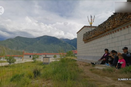 Potret kehidupan bahagia warga desa muda di Tibet