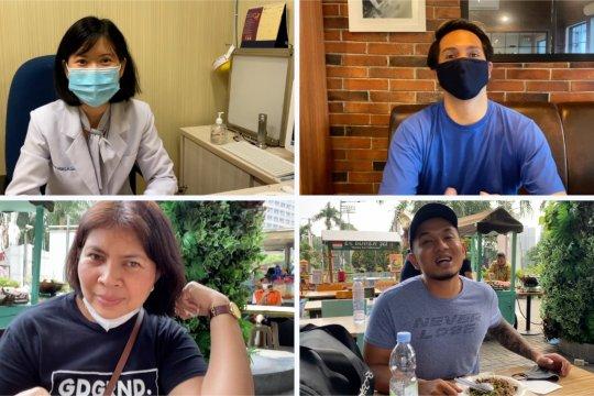 Tips melepas masker secara tepat saat makan di luar rumah