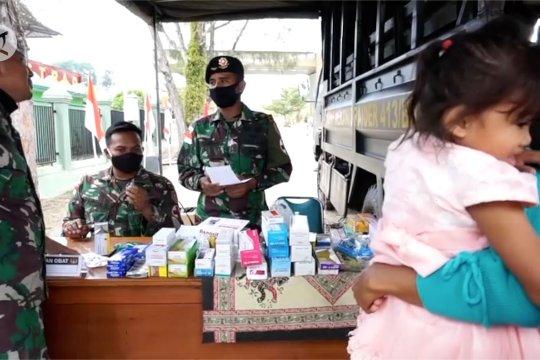 TNI peduli kesehatan warga pebatasan RI-PNG