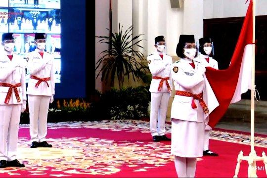 Presiden kukuhkan 8 anggota Paskibraka 2020