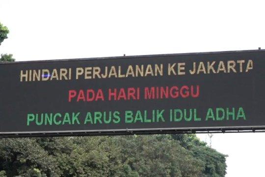 H+2 Idul Adha, arus balik tol Cikampek-Jakarta ramai lancar