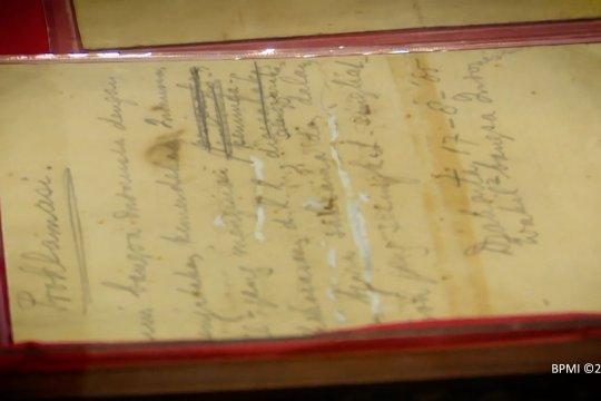 Naskah asli teks Proklamasi tulisan tangan Bung Karno kembali ke ANRI