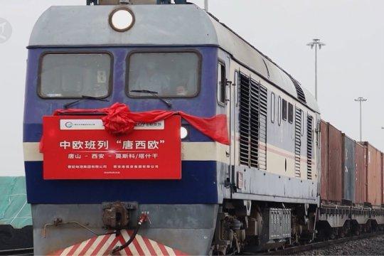 Rute baru kereta barang China-Eropa diluncurkan di Tangshan, China