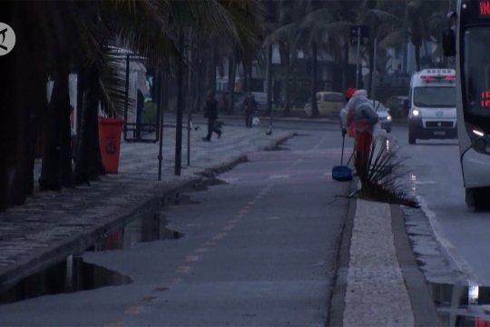 Salju langka, sebagian besar wilayah Brazil membeku