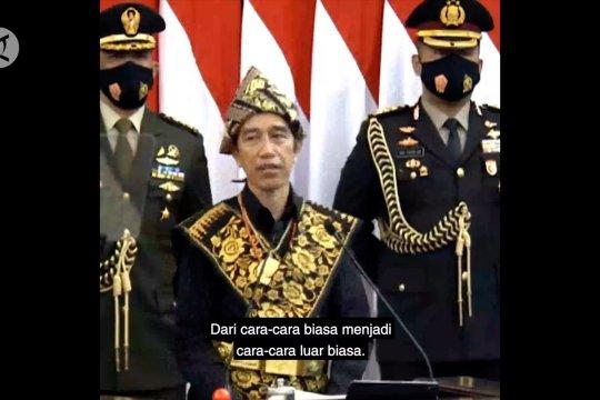 Presiden Jokowi: Krisis memaksa kita menggeser channel cara kerja