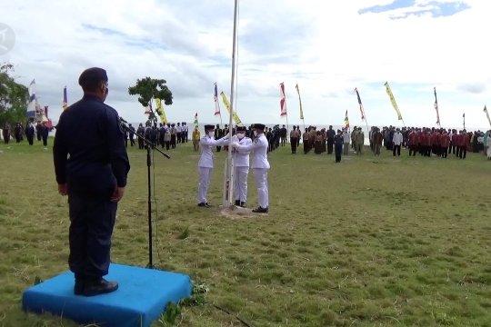 Menyaksikan peringatan Kemerdekaan RI di pulau terpencil di Sultra