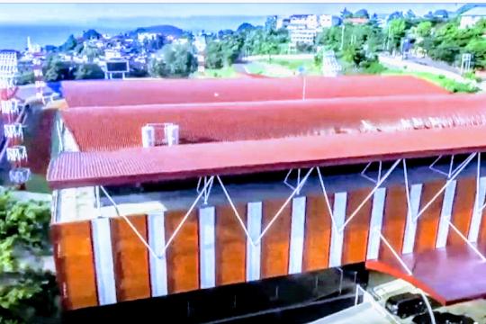 Gubernur Papua sebut Wisma Atlet  yang diresmikannya termegah di Indonesia