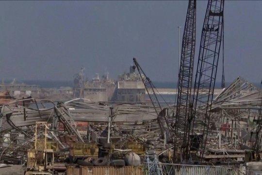 Area pelabuhan Beirut rusak parah akibat ledakan