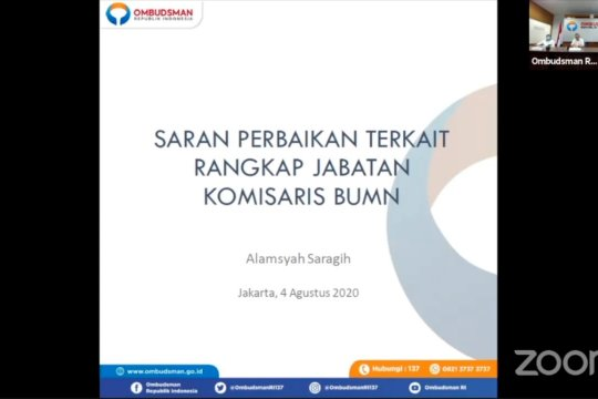 Ombudsman surati Presiden untuk copot komisaris BUMN rangkap jabatan