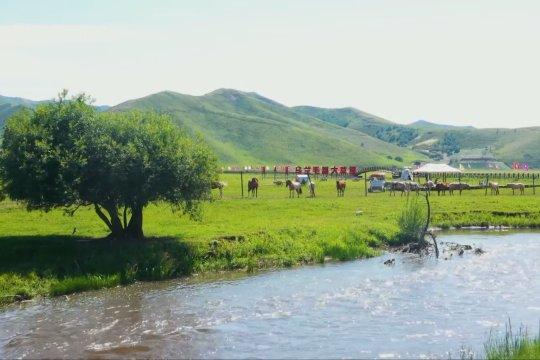 Pemandangan unik padang rumput Ulan Mod di Mongolia Dalam