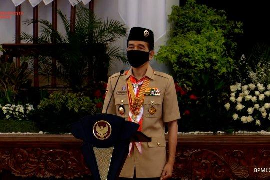 Presiden minta Pramuka buat gerakan kedisiplinan dan kepedulian nasional