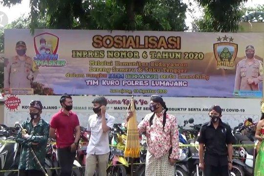 Polisi gandeng budayawan sosialisasikan tertib bermasker