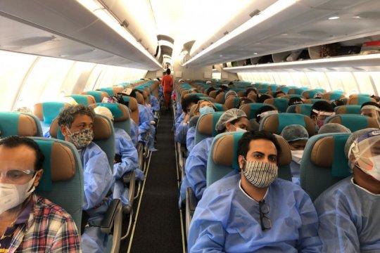 Sejumlah 281 WNI yang tertahan di India akhirnya pulang ke Indonesia