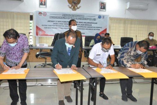 BNN Sulsel jalin kesepahaman dengan 12 KPU kabupaten dan kota