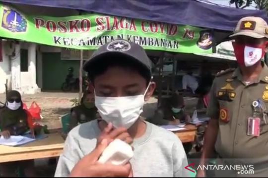 Remaja tak bermasker di Jakbar diberi sanksi lafalkan Pancasila