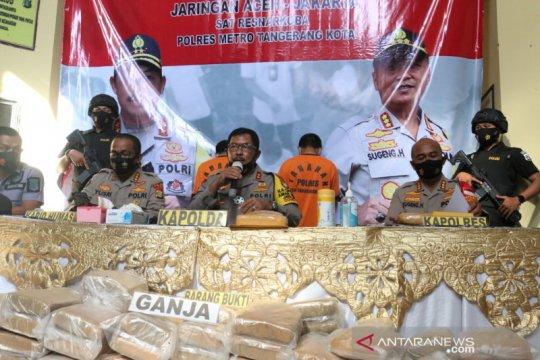 Polisi sita 200 kilogram ganja kering dari jaringan Aceh-Jakarta