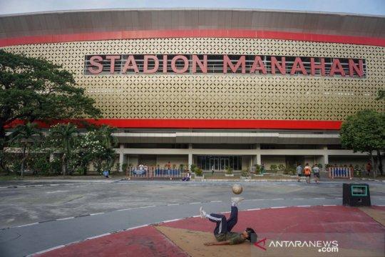 Kawasan Stadion Manahan mulai ditata untuk persiapan Piala Dunia U-20
