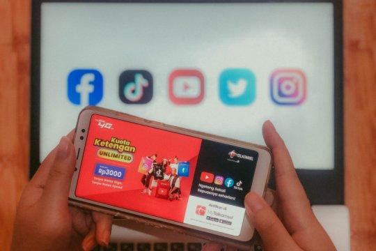 Telkomsel Ketengan Unlimited, akses media sosial tanpa batas kuota