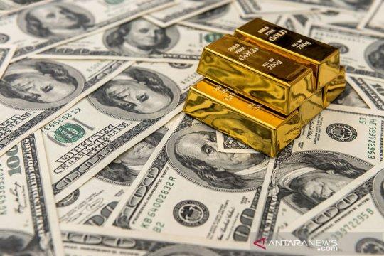 Investor masih memburu obligasi AS, harga emas jatuh 6,6 dolar