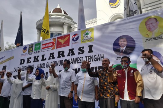 10 parpol koalisi deklarasi Rusdi-Ma'mun maju Pilkada Sulteng