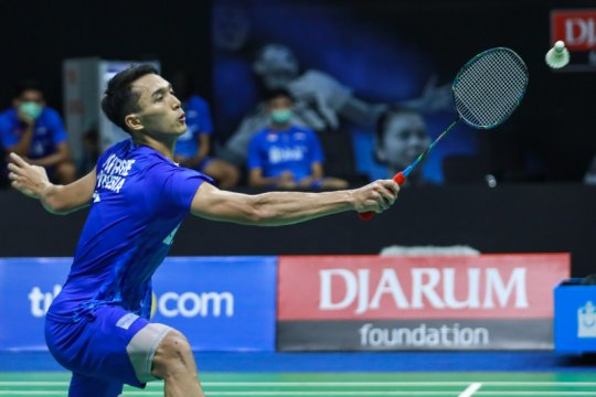 Jonatan Christie kandas di babak pertama Thailand Open II
