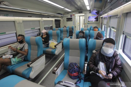 Selama Pandemi, jumlah penumpang KA terendah 62 orang sehari