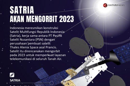 Satria akan mengorbit 2023
