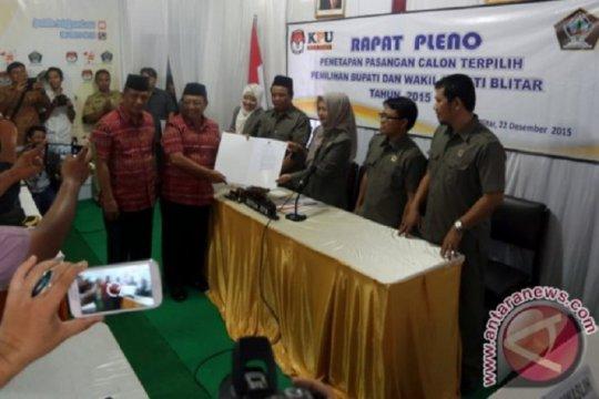 Pasangan petahana di Kabupaten Blitar Rijanto-Marhaenis daftar pilkada