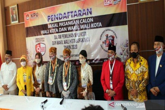 Gibran-Teguh resmi daftar ke KPU Surakarta