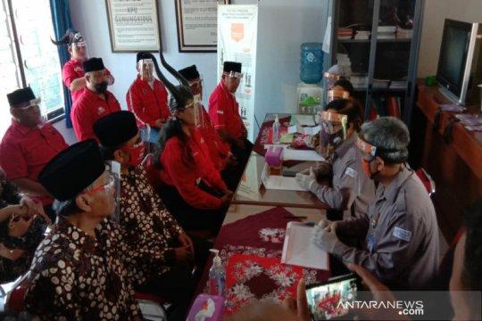 Bakal paslon Bambang Wisnu-Benyamin mendaftar ke KPU Gunung Kidul