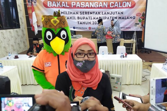 Dua pasangan bakal calon Pilkada Malang mendaftar ke KPU
