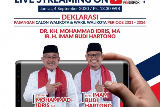 "Deklarasi pasangan Idris-Imam gunakan ""live streaming"" di Medsos"