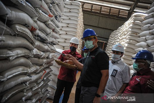 Mensos pastikan stok untuk bansos beras aman