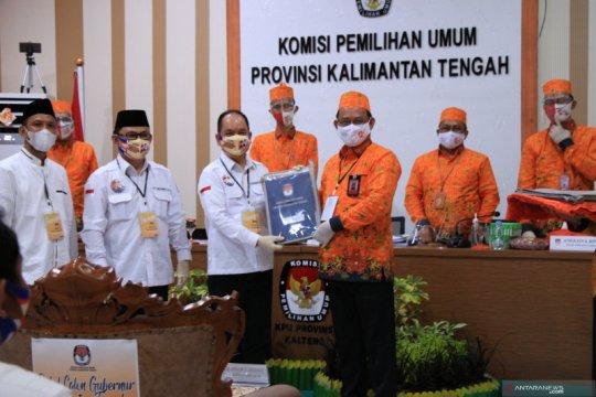 Pasangan Ben-Ujang mendaftar di KPU Kalteng