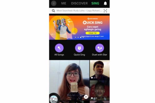 Quick Sing, fitur karaoke JOOX sembari bisa ikut tantangan SEVENTEEN