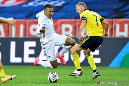 Mbappe akui cedera pergelangan kakinya kambuh usai laga lawan Swedia